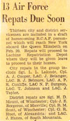 Click for larger view. Newspaper article announcing arrival of veterans on the Queen Elizabeth.